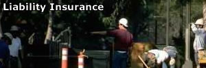 People working, insured with liability insurance
